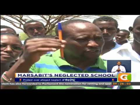 Parents and students from Nkrunit secondary school in Laisamis hold protest