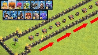 "WHICH TROOP CAN OUT RUN THIS!?! "" Clash of clans "" RACE BASE!!"