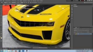Как нанести один слой на другой в Adobe Photoshop CS?