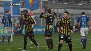 BK Häcken vs Djurgårdens IF - 1-0 - Allsvenskan (Fifa 16, Career Mode)