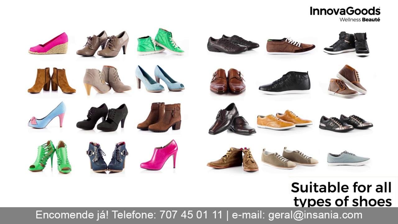 Sapatos com salto interno que aumentam a sua altura até 7 cm
