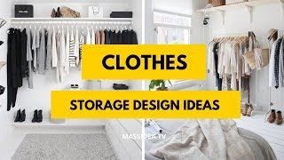65+ Best Small Space Clothes Storage Design Ideas