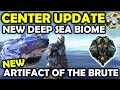Ark Center Update - Artifact Of The Brute - New Sea Caves - Megalodon Tek Saddle