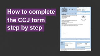 How to complete a CCJ (County Court judgment) form