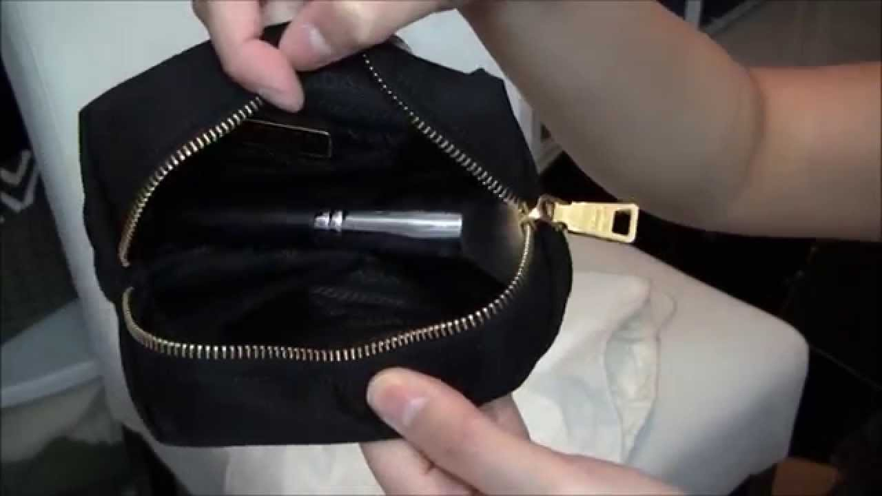 944e27e1eb49 Unboxing ♥ PRADA COSMETIC BAG - YouTube