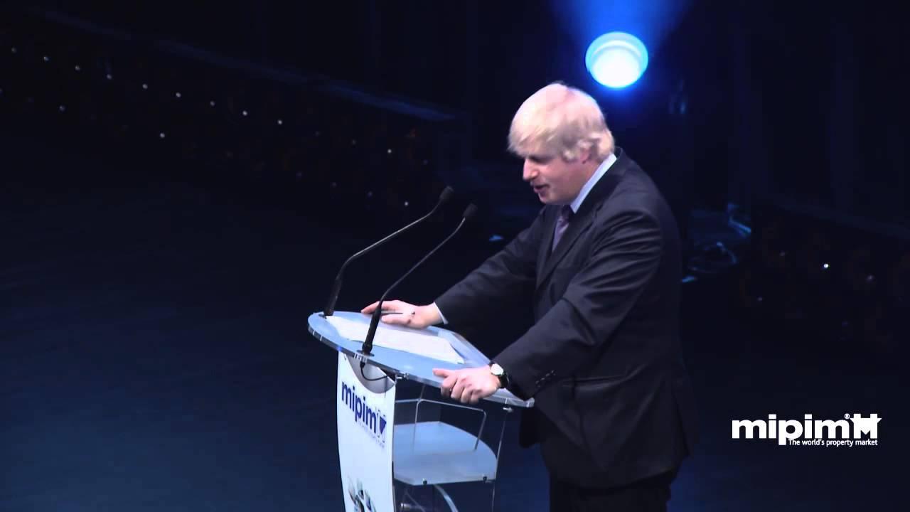 Keynote address by Boris Johnson, Mayor of London - YouTube