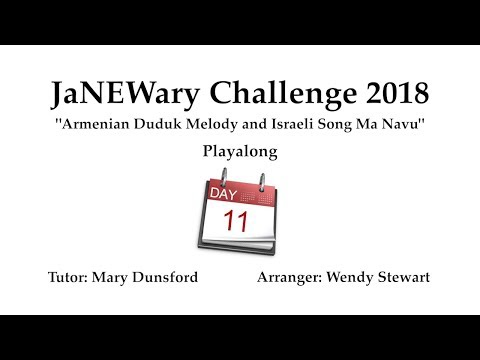 JaNEWary Challenge Day 11 - Playalong and Support