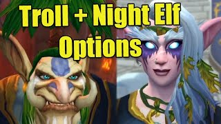 Shadowlands Alpha Character Customization: New Troll and Night Elf Options (Tusks, Vines,  Hair)