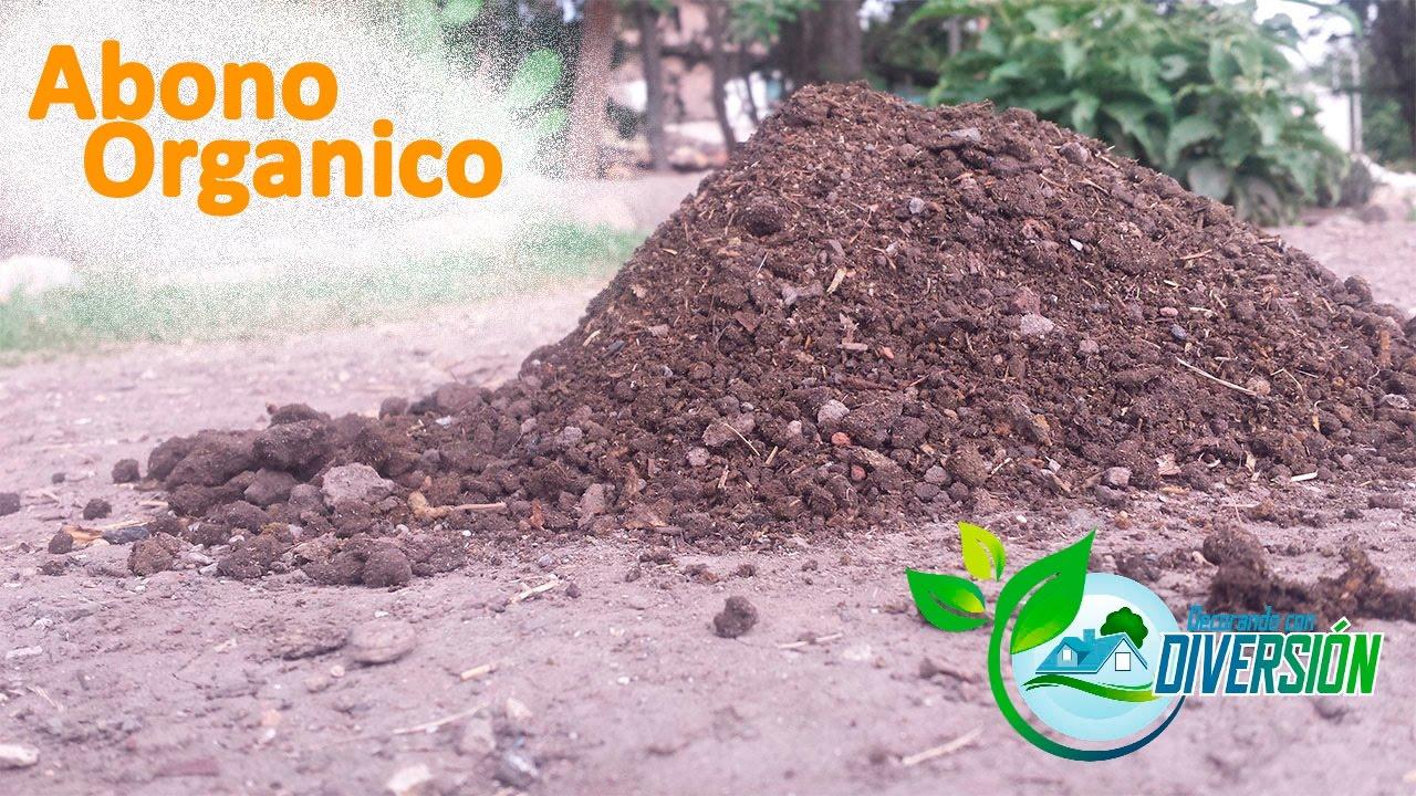 como hacer abono organico humus organico youtube - Abono Organico