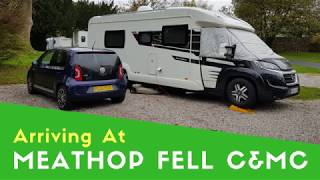 Arriving At Meathop Fell Caravan And Motorhome Club Site | Halloween Getaway 2018 Pt1