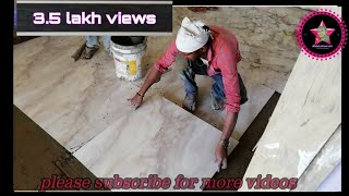 How to 800 × 800 mm Glazed vitrified tiles install in India