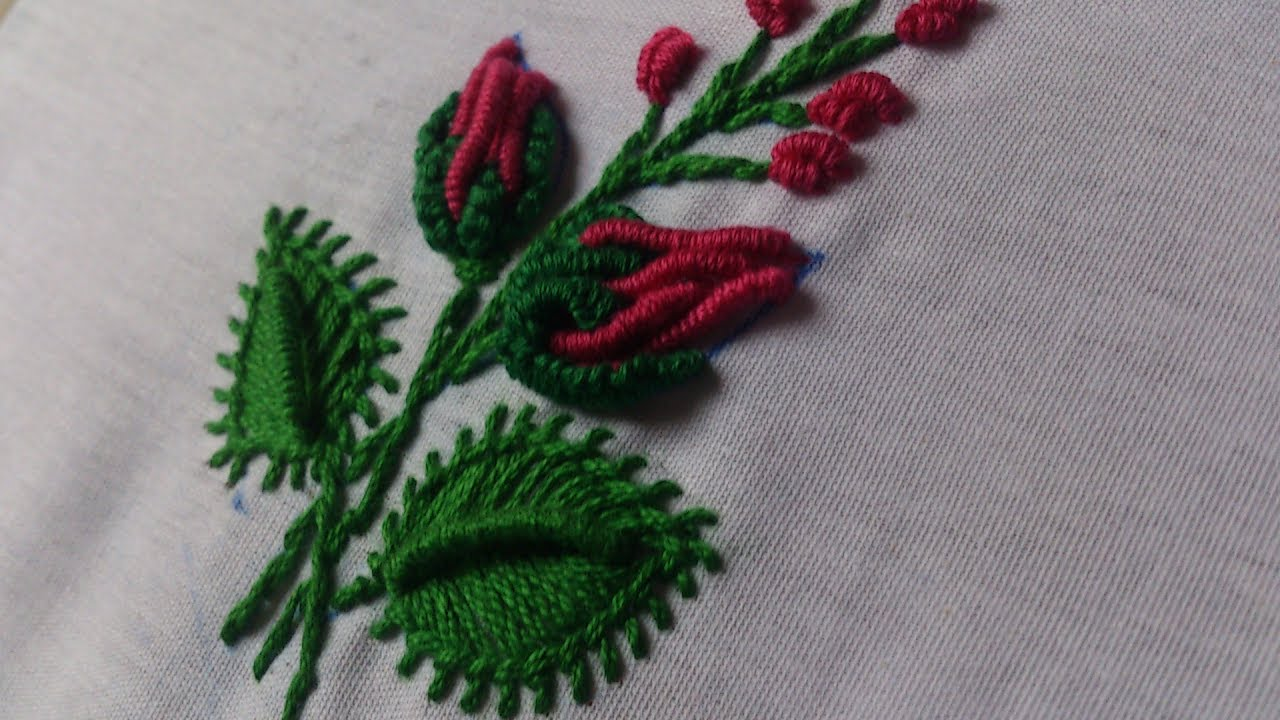 Hand Embroidery Designs Beautiful Tiny Design For Dresses