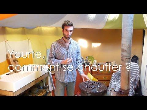 Yourte, comment se chauffer efficacement? (poêle à sciure : démonstration) - 7/9 Vivre en yourte