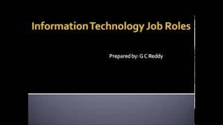Information Technology Job Roles