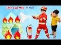 Trò Chơi Lính Cứu Hỏa Tí Hon Đi Chữa Cháy ♥ Min Min TV Minh Khoa