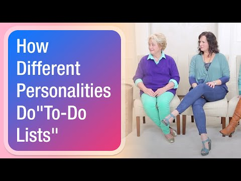 """How Different Personalities Do """"To-Do Lists"""""""