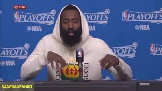 James Harden Postgame Interview | Rockets vs Spurs Game 6 | 2017 NBA Highlights HD