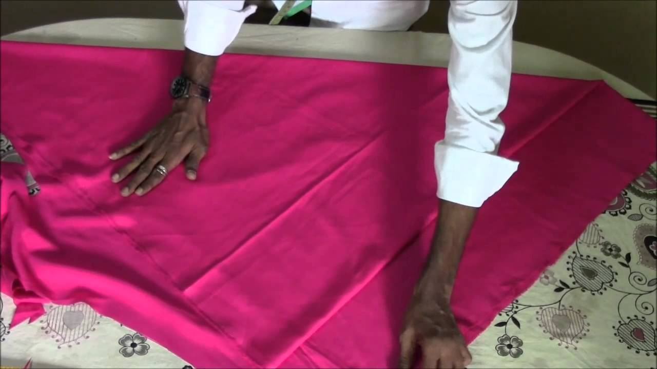 anarkali or umbrella top and churidhar cutting youtube