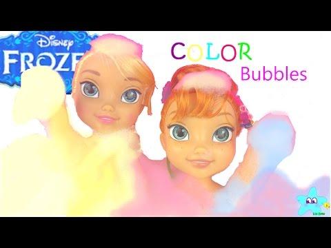 Color Bubbles? OMG!! BUBBLE BATH FUN!!!!...