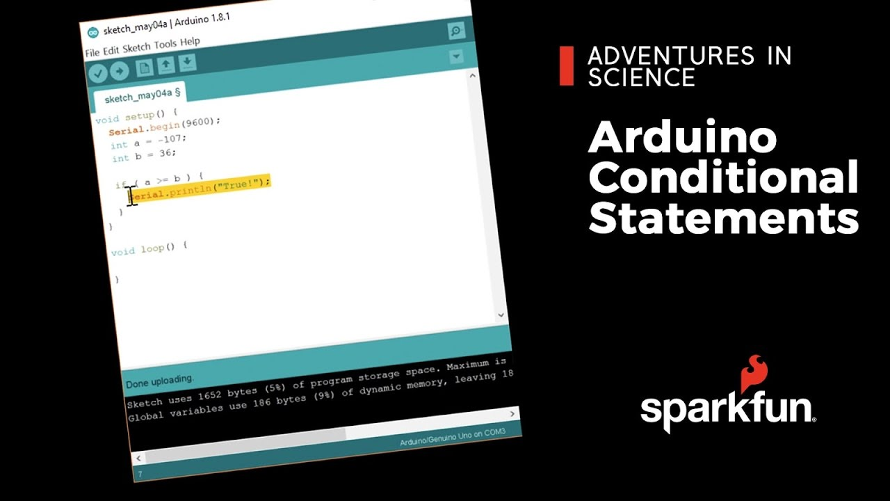 Adventures in Science: Arduino Conditional Statements - News
