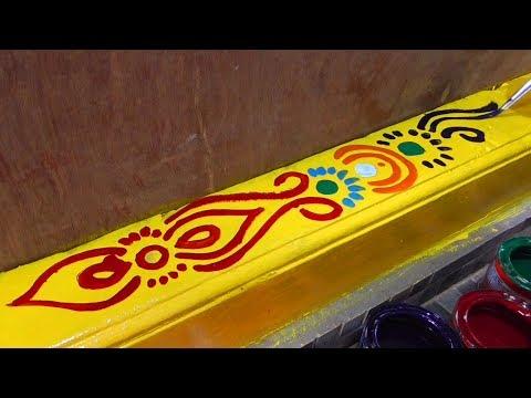 Gadapa Designs | Threshlod Painting | Gadapa Designing With Color Painting | Rangoli Designs