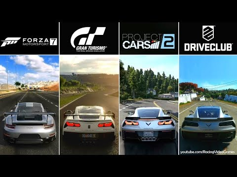 Forza 7 vs. Gran Turismo Sport vs. Project CARS 2 vs. DriveClub | Graphics, Rain Comparison PS4/Xbox