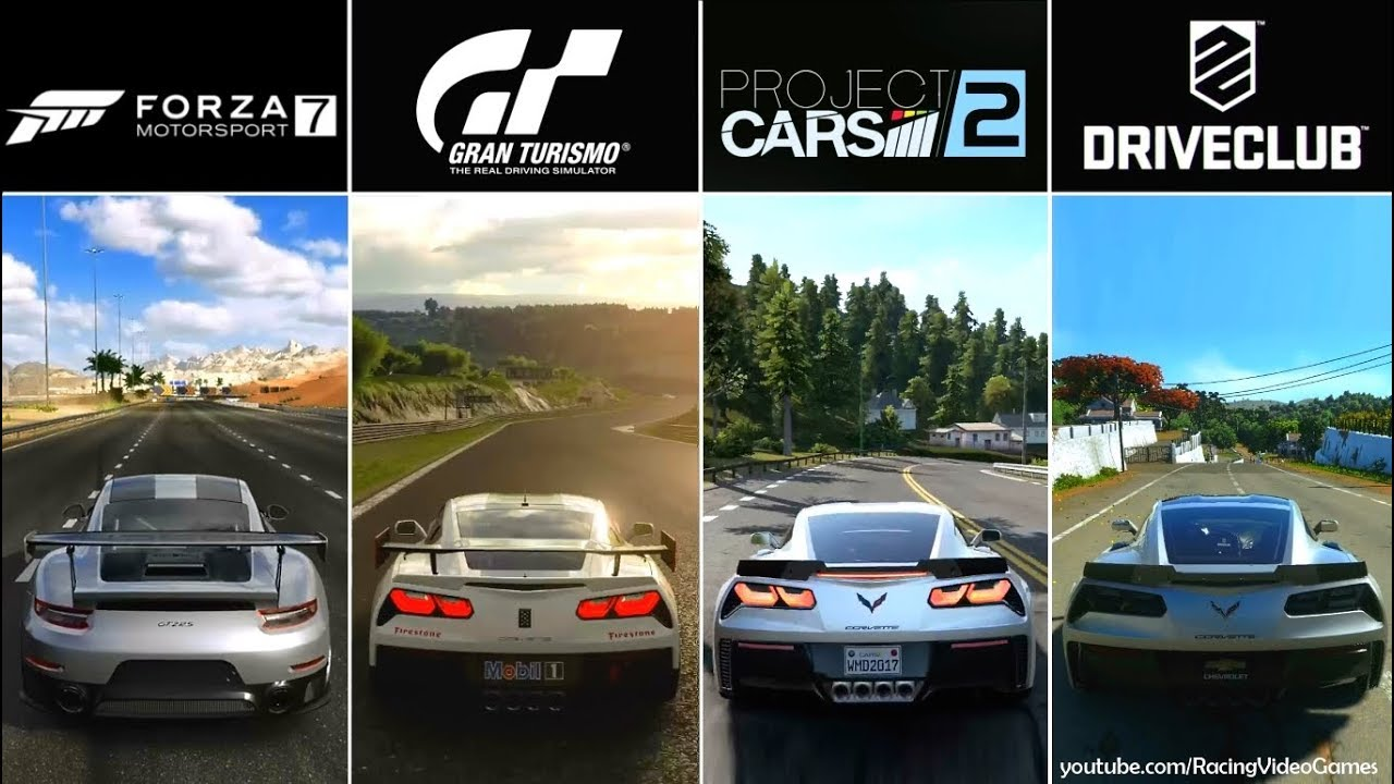 forza 7 vs gran turismo sport vs project cars 2 vs. Black Bedroom Furniture Sets. Home Design Ideas