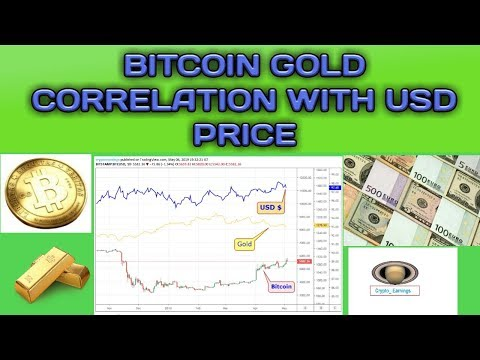 BITCOIN GOLD CORRELATION WITH USD PRICE | IN HINDI