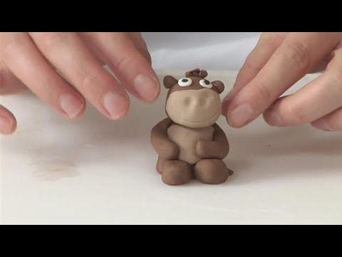 How To Form A Fondant Monkey Youtube