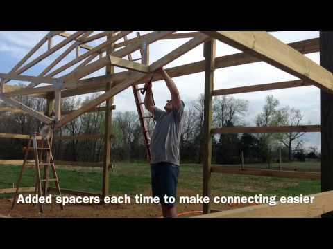 1 man barn build videos for Build a barn online