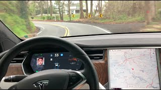 Tesla Autopilot | Tesla's NEW Path Prediction on a Curvy Country Road