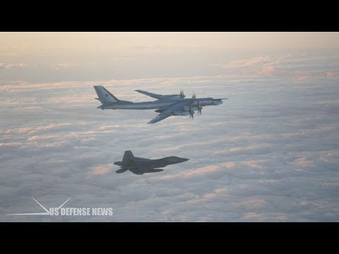 F-22 Stealth Jets Intercept Russian Tu-95 Bear Bombers Heading for Alaska during Massive Wargame