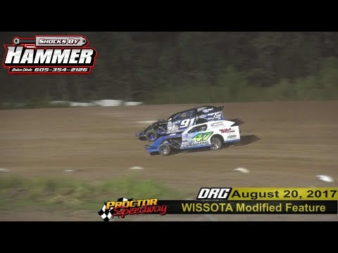 Proctor Speedway 8/20/17 WISSOTA Modified Highlights