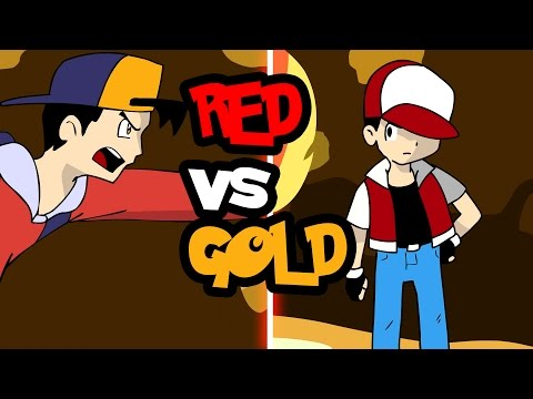 Pokemon Red vs Gold FULL FIGHT