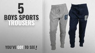 10 Best Boys Sports Trousers [2018 Best Sellers]: ABITO Track Pant for Boys 12-13 Years Smart Set of