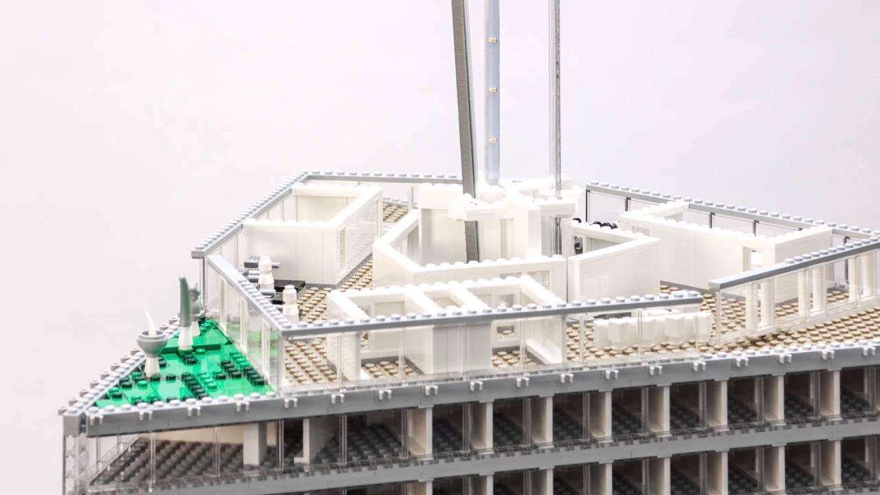 Building Nhow Amsterdam Rai The Lego Model Youtube