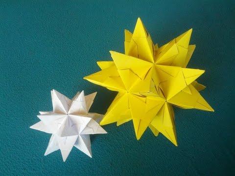 sterne basteln aus papier origami bascetta stern. Black Bedroom Furniture Sets. Home Design Ideas