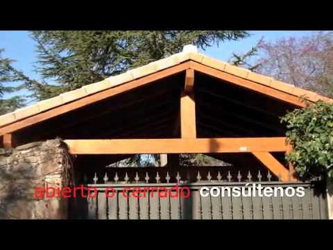 garajes de madera pergomadera youtube
