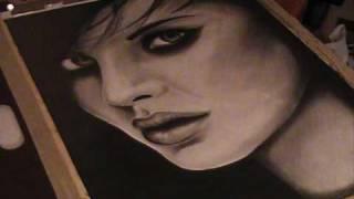 Portrait Drawing Dark eyes