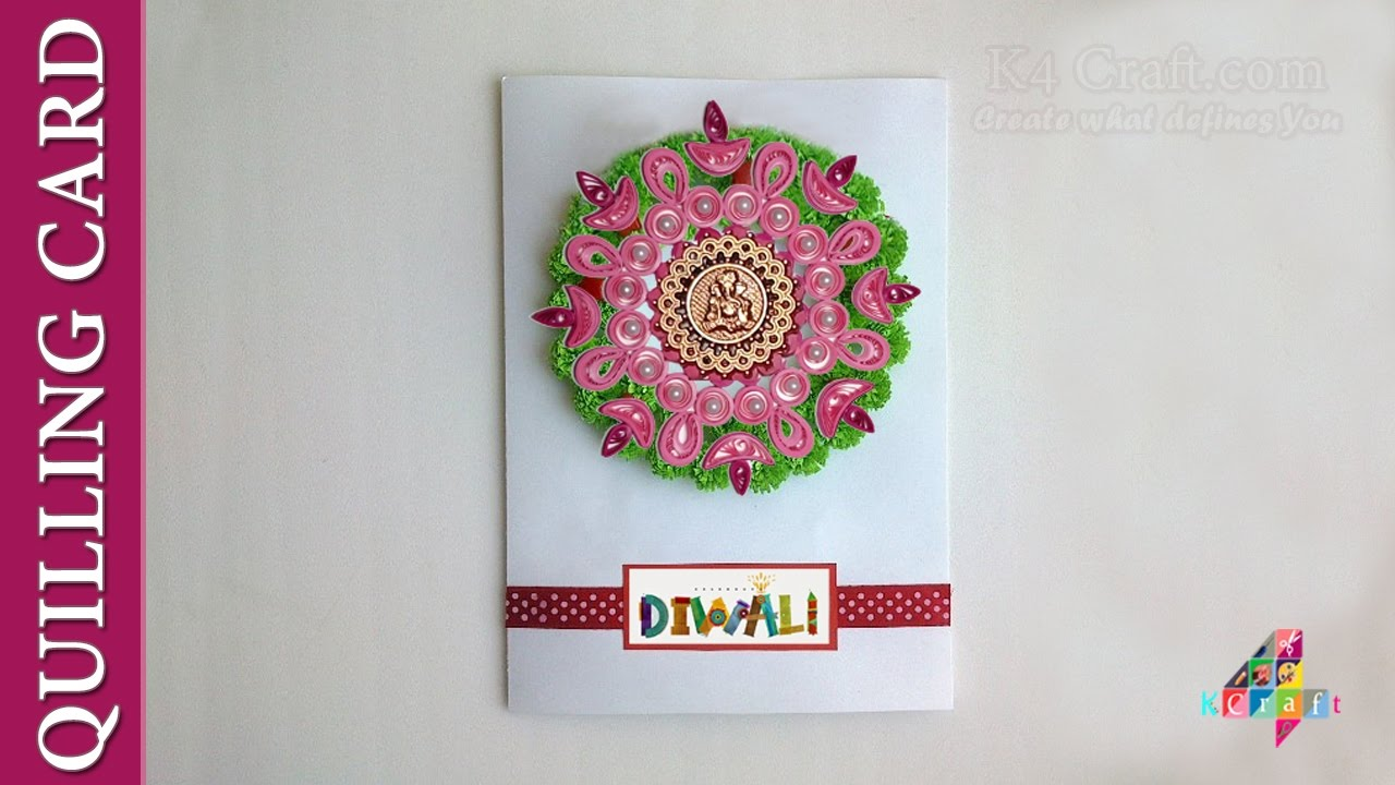 diy handmade quilling diya card making tutorial happy new year gift youtube