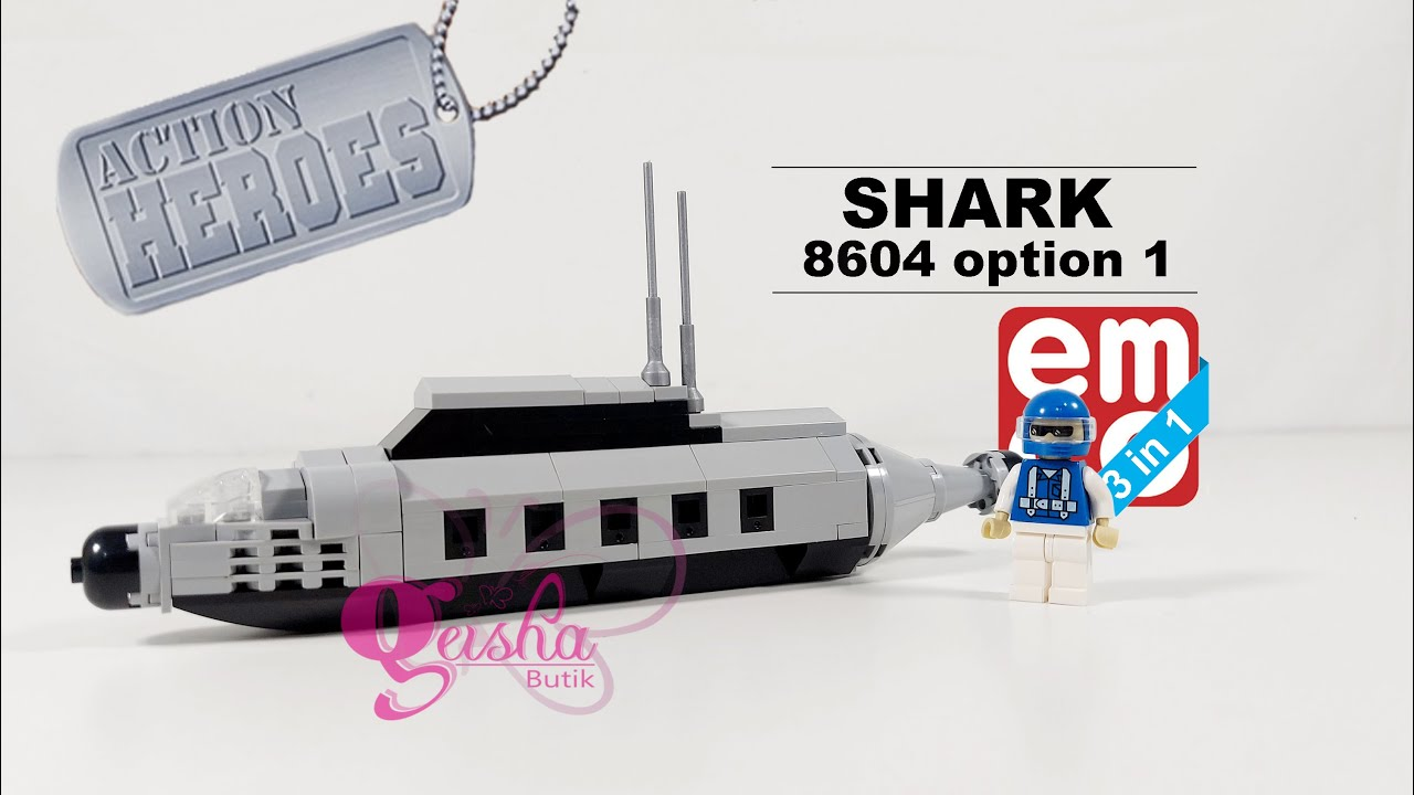 EMCO BRIX 8604, ACTION HEROES Series - Shark (option 01)