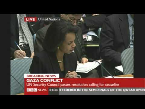 US abstains on UN Gaza cease-fire resolution. Condoleezza Rice explains.