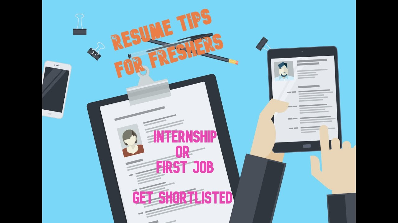 How to make a Resume for Freshers | Internship | First Job ...