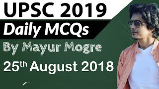 UPSC 2019 Preparation - 25 August 2018 Daily Current Affairs for UPSC  IAS 2019