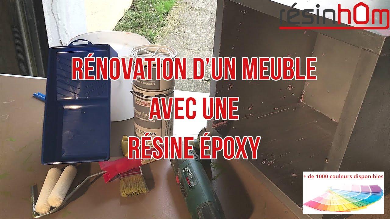 renovation d un meuble avec de la resine epoxy resinhom