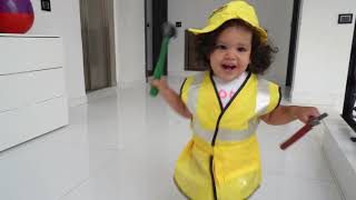 Baby amira Chooses New Professions for Kids | Funny Jobs and Career Kid Video