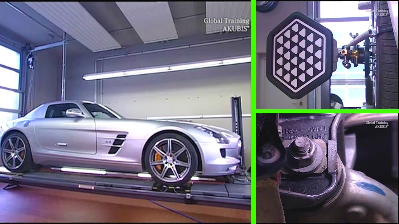 Mercedes benz sls amg wheel alignment with adjustment for Mercedes benz wheel alignment