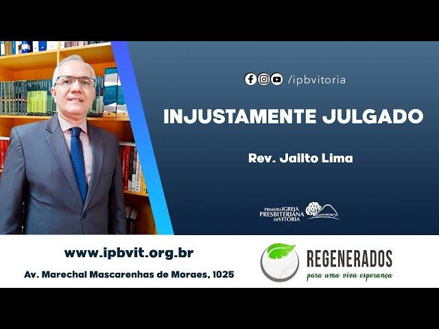 Estudo Bíblico - Rev. Jailto Lima - João 18.19-24