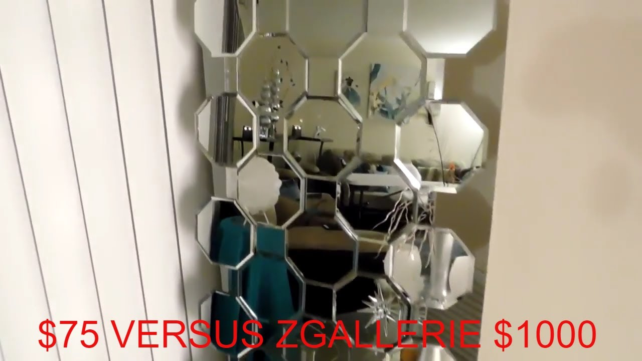 EASY DOLLAR TREE DIY/ZGALLERIE MIRROR DIY/ZGALLERIE AXIS FLOOR ...