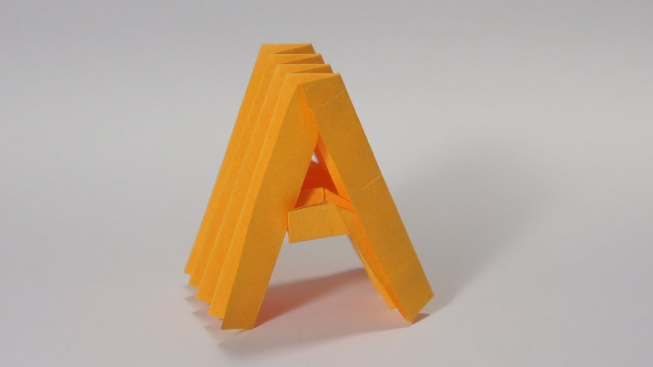 Origami Letter A